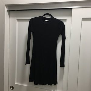 Lush black mock neck dress size S